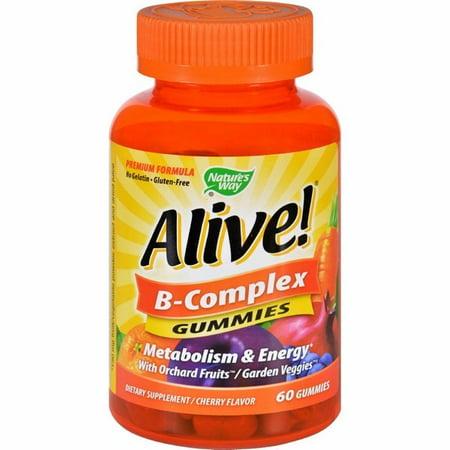 Natures Way B-complex - Alive - Gummies - 60 (B-complex Gummy)