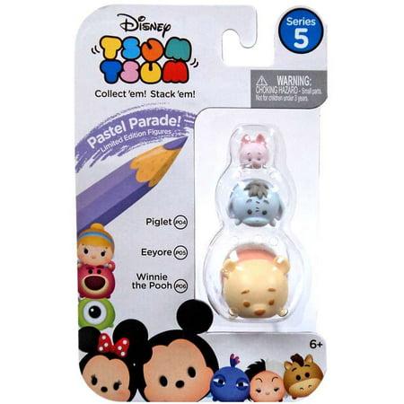 Disney Tsum Tsum Series 5 Pastel Parade Piglet, Eeyore & Winnie the Pooh Minifigure