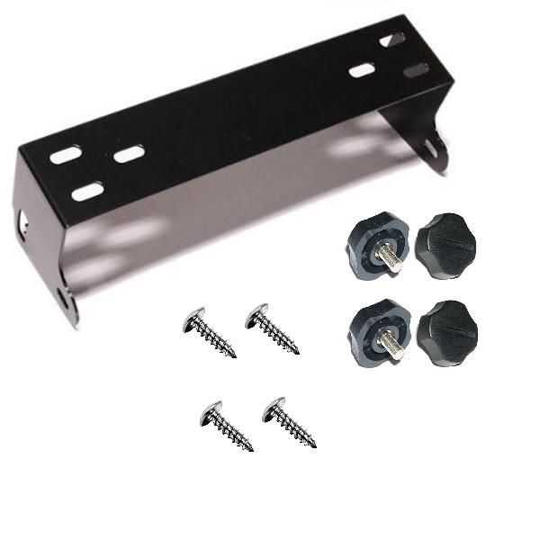 CB Radio mount bracket kit for Cobra 148, Uniden Grant, Galaxy, Connex (BLACK)