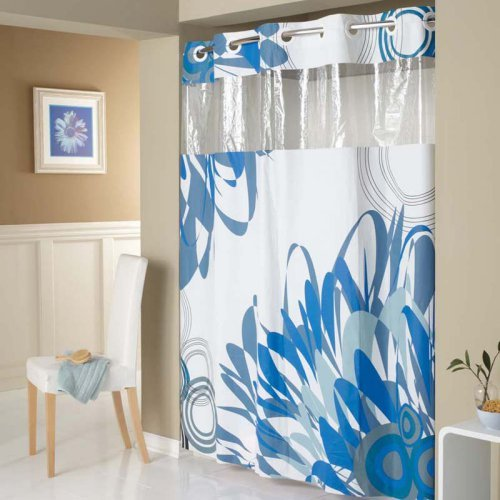 hookless graphic floral peva shower curtain walmart