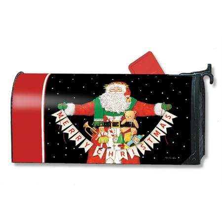 Magnet Works Santa Greetings Fun Magnetic Mailbox Wrap Cover