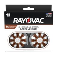 Rayovac Size 312 Hearing Aid Batteries, 48-Pack 312-48