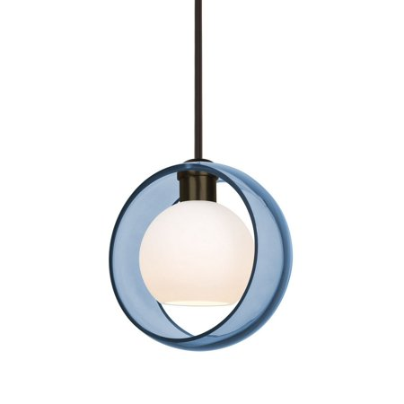 Besa Lighting-1TT-MANABL-BR-Mana - One Light Stem Pendant with Flat ()