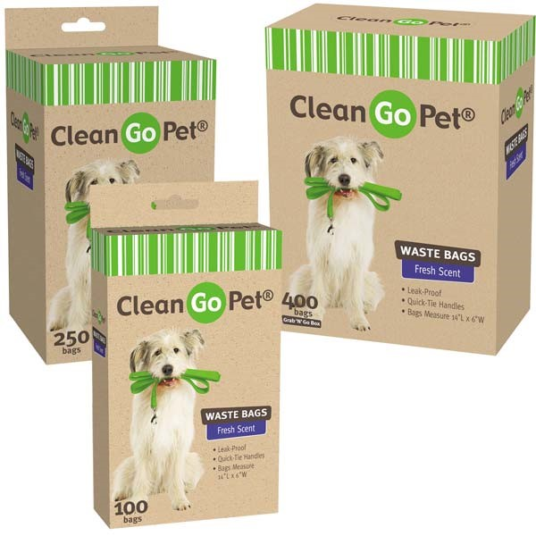 PetEdge Clean Go Pet Fresh Scented Doggy Waste Bags 100 Ct