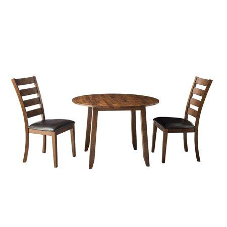 - Intercon Kona Brandy 42 Inch Round Drop-Leaf Dinette Table - Brown