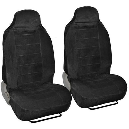 BDK Encore Car Seat Covers Dotted Cloth 2 Piece Premium