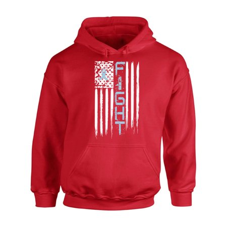 Awkward Styles Unisex Prostate Cancer Distressed American Flag Graphic Hoodie Tops Fight Blue Ribbon