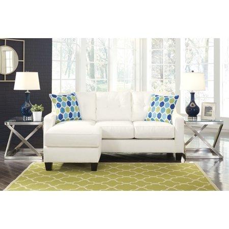 Ashley Furniture Aldie Nuvella Queen Sofa Chaise Sleeper in White 6870468