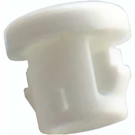 1ELY9 Bushing, Nylon, OD 0.375 In, Wh, PK 25