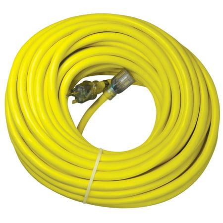 Utilitech Pro 100-ft 20-Amp 125-Volt 10-Gauge Yellow Outdoor Generator Cord