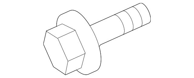 Genuine Mopar Water Pump Assembly Bolt 6507697AA