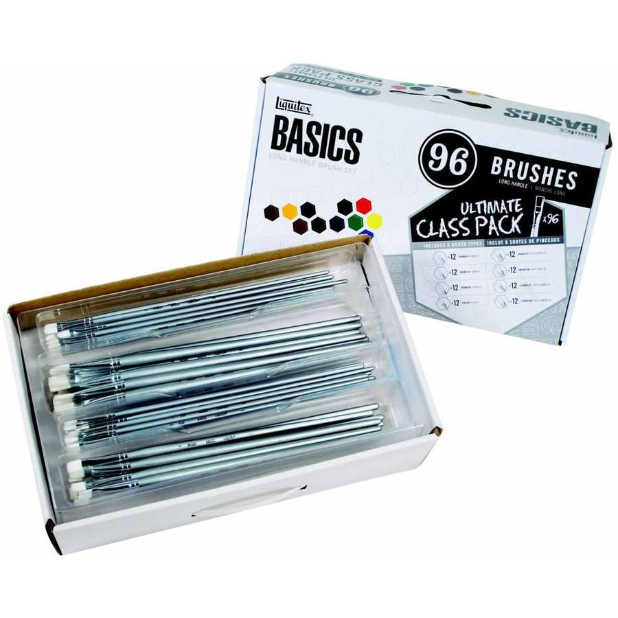 Liquitex Basic Value Brush Set, Assorted Sizes, Set of 96
