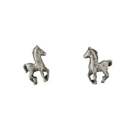 Sterling Silver Prancing Horse Post Stud