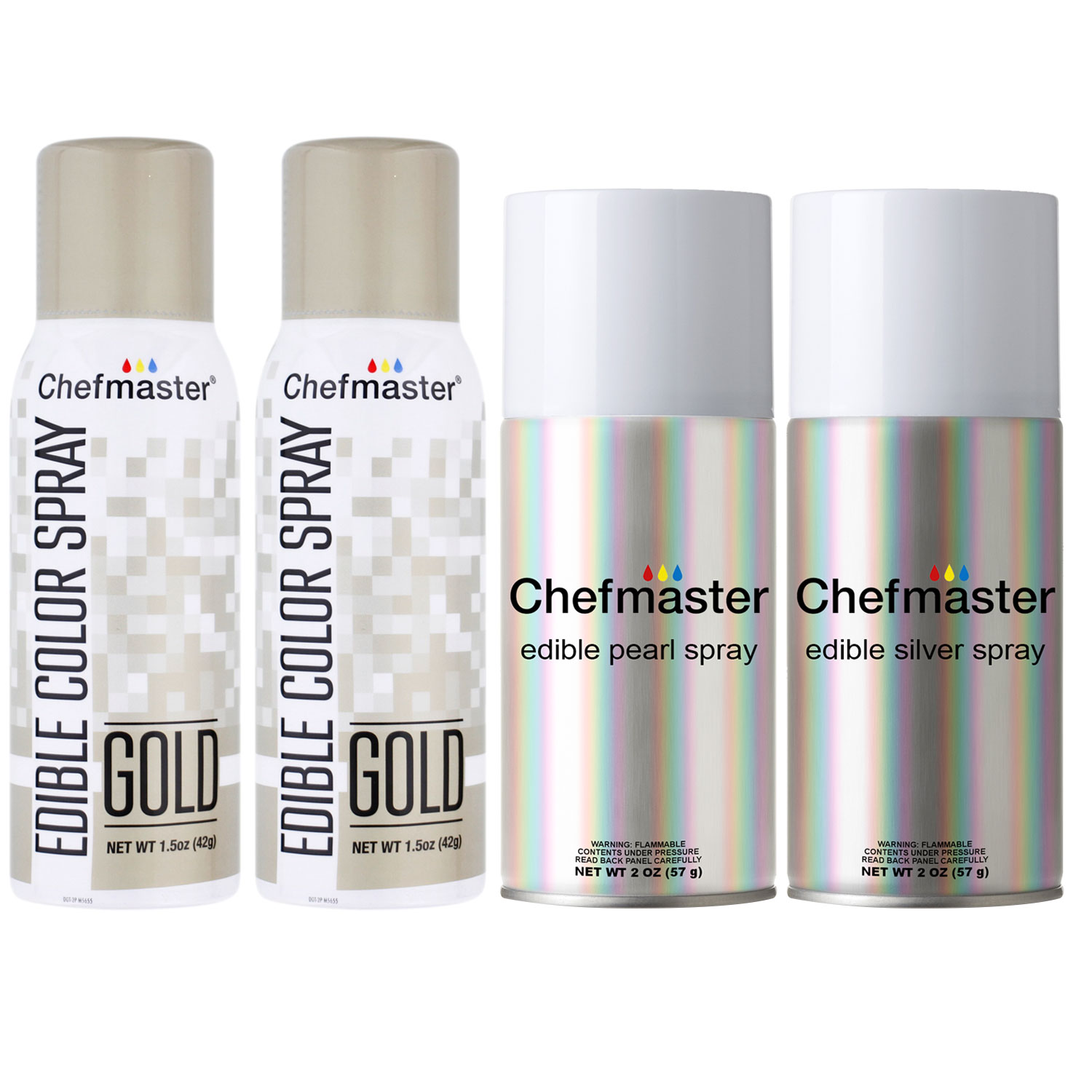 Chefmaster by US Cake Supply Edible Spray Food Coloring 3 ...