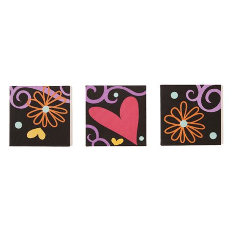One Grace PLace 3 Piece Sassy Shaylee Canvas Art Set