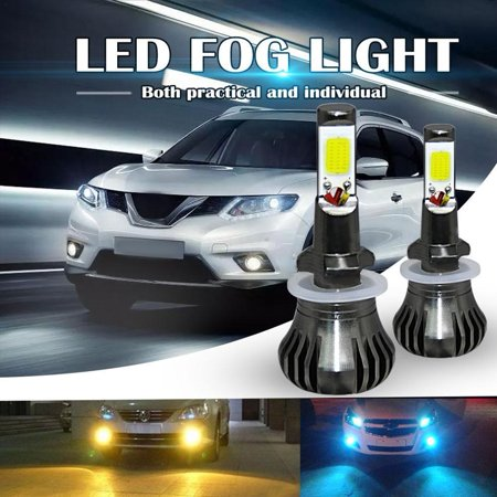 2x LED Fog Light 880/881 DRL Car Driving Lamp Amber Bulbs DC12-24V