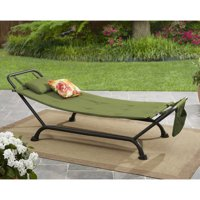 Mainstays Belden Park Hammock with Stand for Outdoor Patio and Deck, Tan