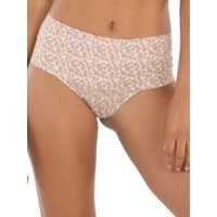 women's undie -tectable thong, soft nude, large