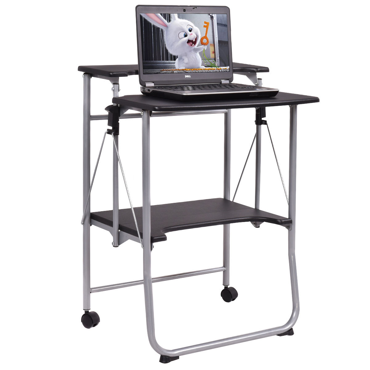 Costway Folding Computer Desk Laptop PC Table Workstation Study