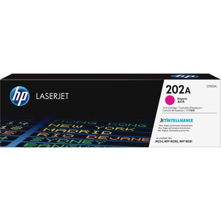 HP, HEWCF503A, 202A Magenta Original LaserJet Toner Cartridge, 1 Each