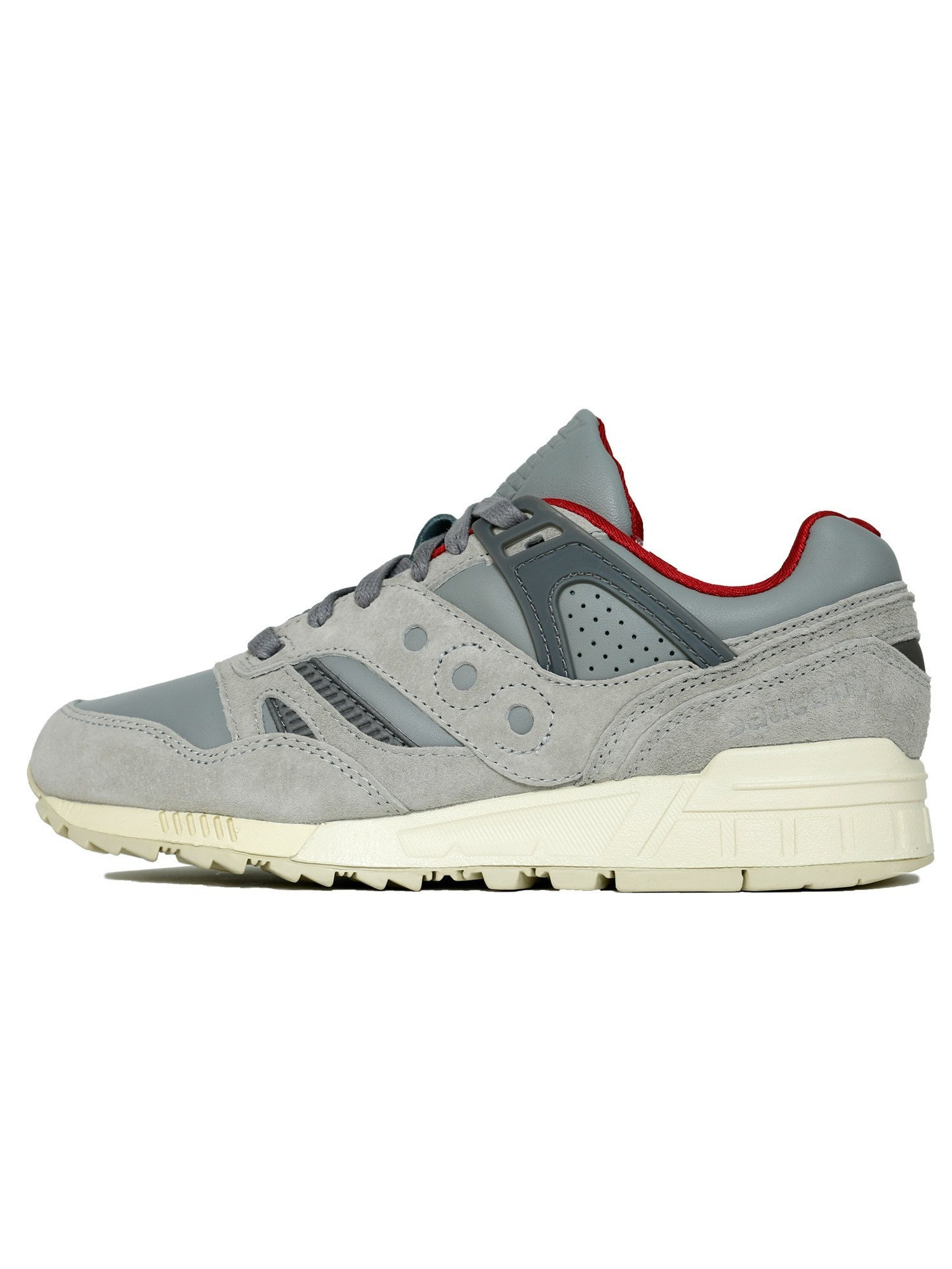 Mens Saucony Grid SD Public Gardens Grey Cream White Red S70263-1 by