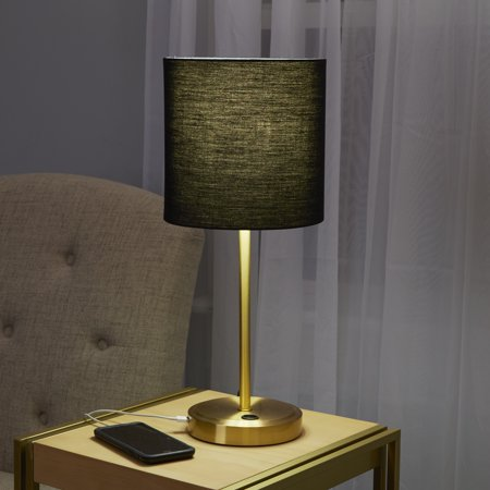 Mainstays Gold Base USB Lamp CA