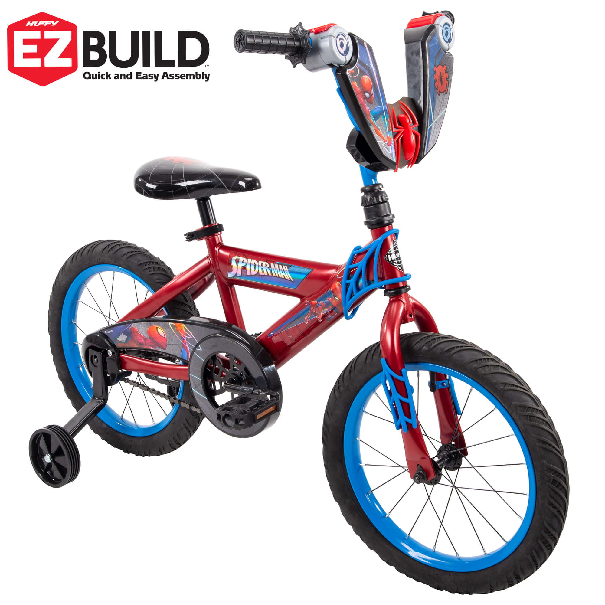 """Marvel Spider-Man 16"""" EZ Build Bike for Boys' by Huffy by Huffy Corp"""