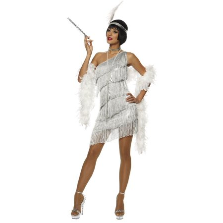 Dazzling Silver Flapper Sexy - Dazzling Flapper Costume