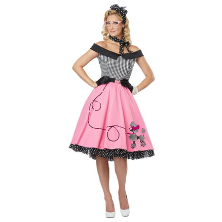 Womens Sexy Nifty 50's Poodle Skirt Halloween Costume