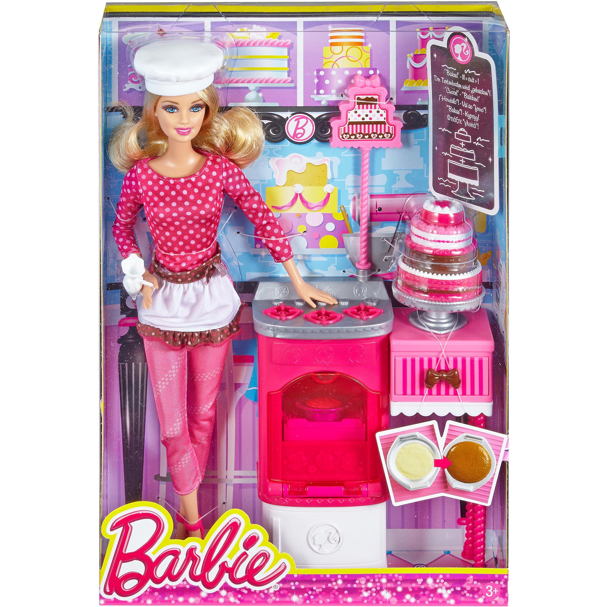 Barbie Careers Complete Play Cake Decorator Set Walmart Com