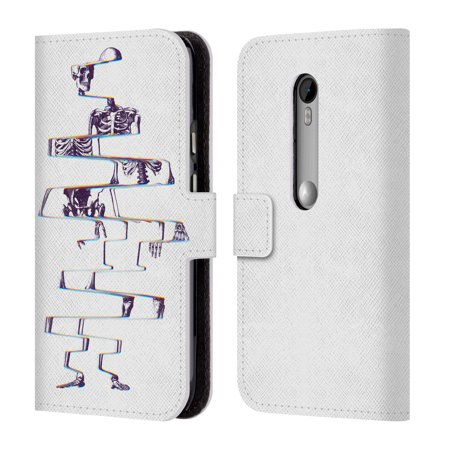 OFFICIAL ALI GULEC WITH A TWIST LEATHER BOOK WALLET CASE COVER FOR MOTOROLA PHONES