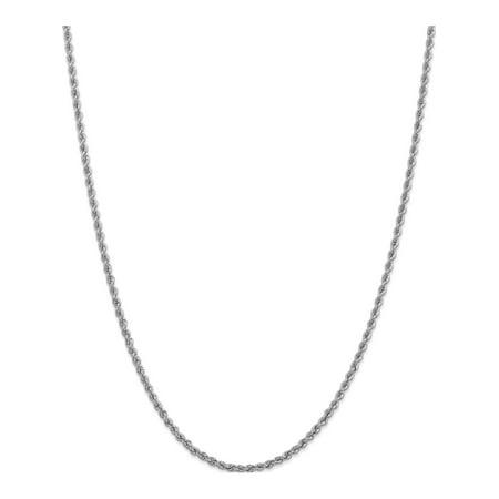 14k White Gold WG 2.5mm Handmade Regular Rope Chain - image 1 of 5