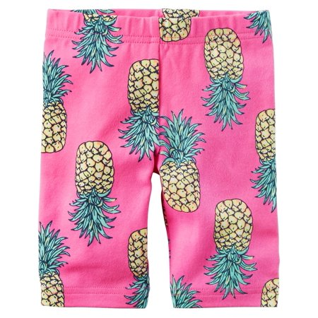 Carter's Little Girls' Printed Biker Shorts, Pineapple, - Biker Girl Corset