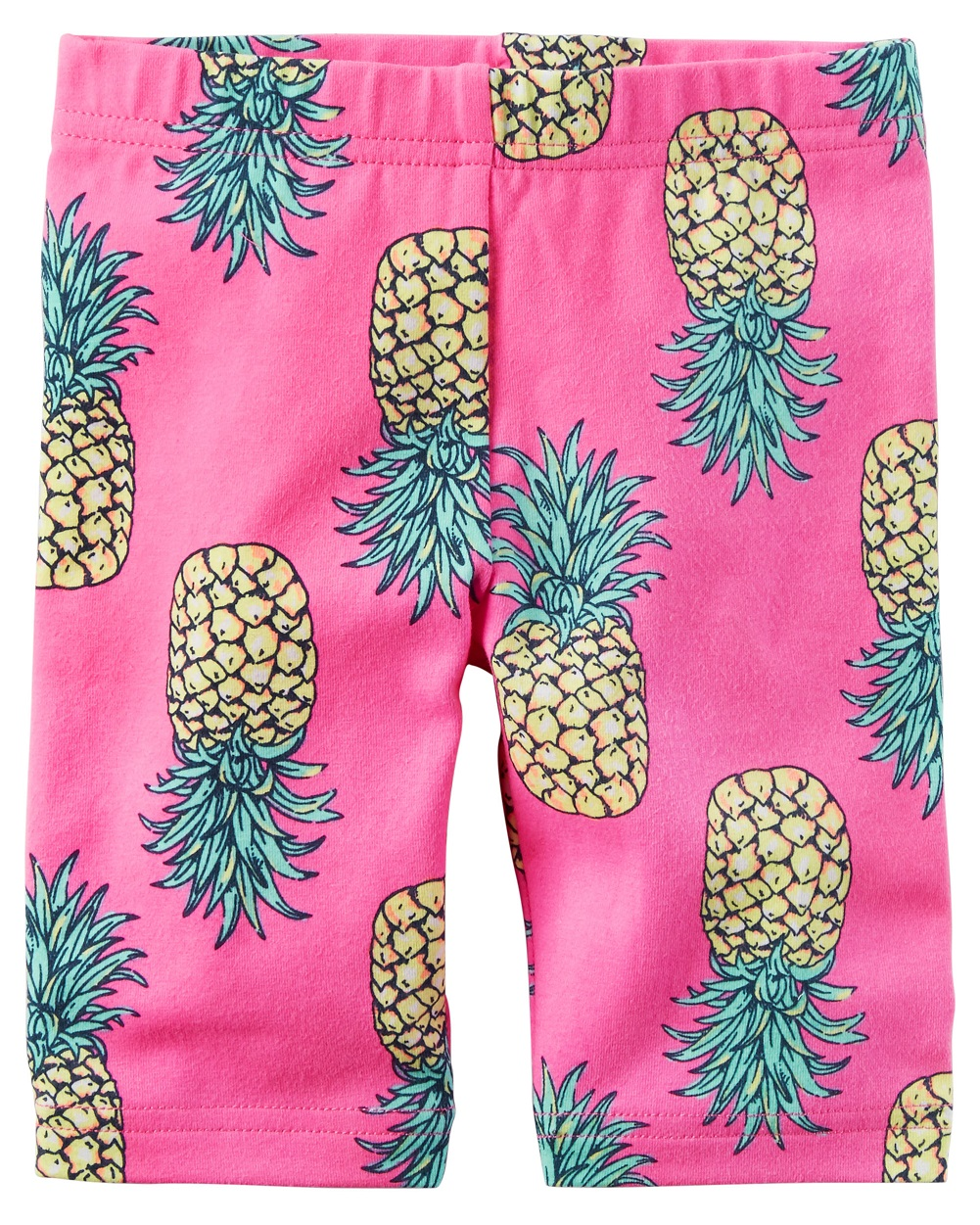 Carter's Baby Girls' Printed Biker Shorts, Pineapple, 6 Months