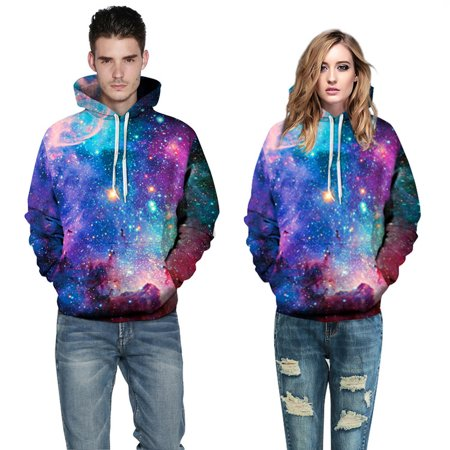 f504bb7d31d6 Walfront - Galaxy Sweat Jacket Hoodie