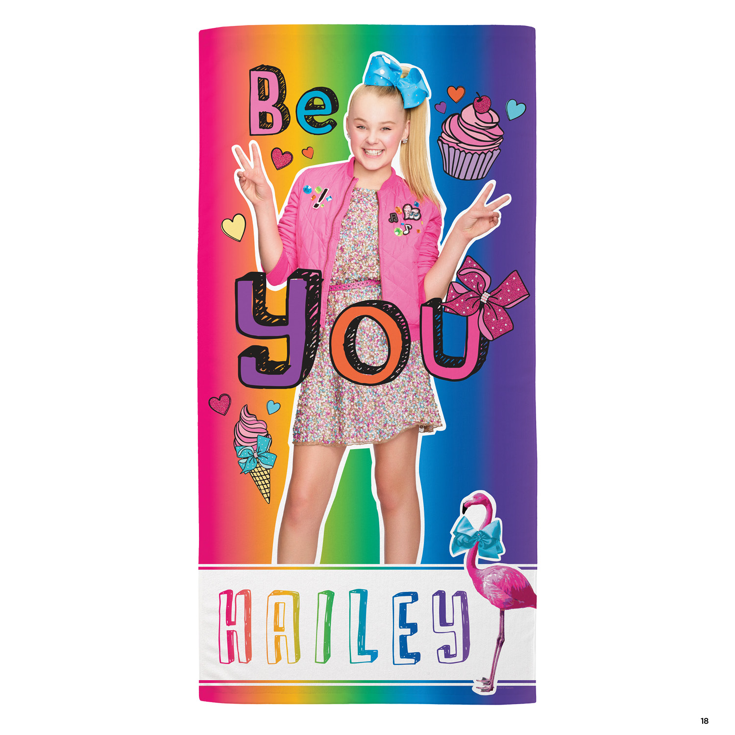 JoJo Siwa Be You Personalized Beach Towel