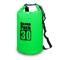 10L / 15L / 20L / 30L Outdoor Waterproof Dry Backpack Water Bag Roll Top Sack for Kayaking Rafting Boating River Trekking