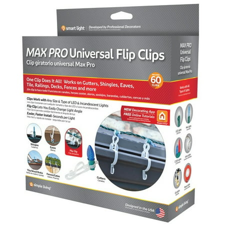 Simple Living 714060 Max Pro Universal Flip Clips For Christmas Lights ()