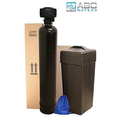 ABCwaters Built Fleck 5600sxt 32,000 WATER SOFTENER w/ UPGRADED 10% High Capacity Resin + Hardness Test + Install