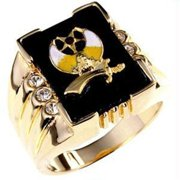 3 Stone Shriners Mens Ring&amp;#44; <b>Size :</b> 09
