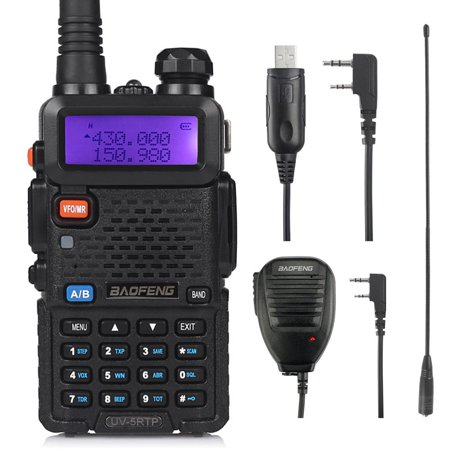 Band Ham (Baofeng UV-5RTP Dual Band Two Way Radio High Power Ham Radio Walkie Talkie with Programming Cable + RD-771 Antenna + Speaker Mic)