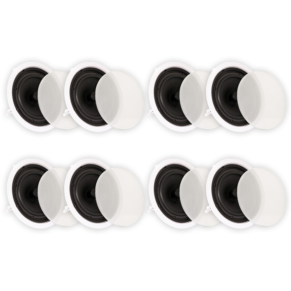 """Theater Solutions TSQ670 In Ceiling 70 Volt 6.5/"""" Speakers 3 Pair Pack 3TSQ670"""
