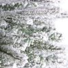 6 foot FT Artificial Christmas Trees Flocked Snow White Tree  PE PVC 800 Tips