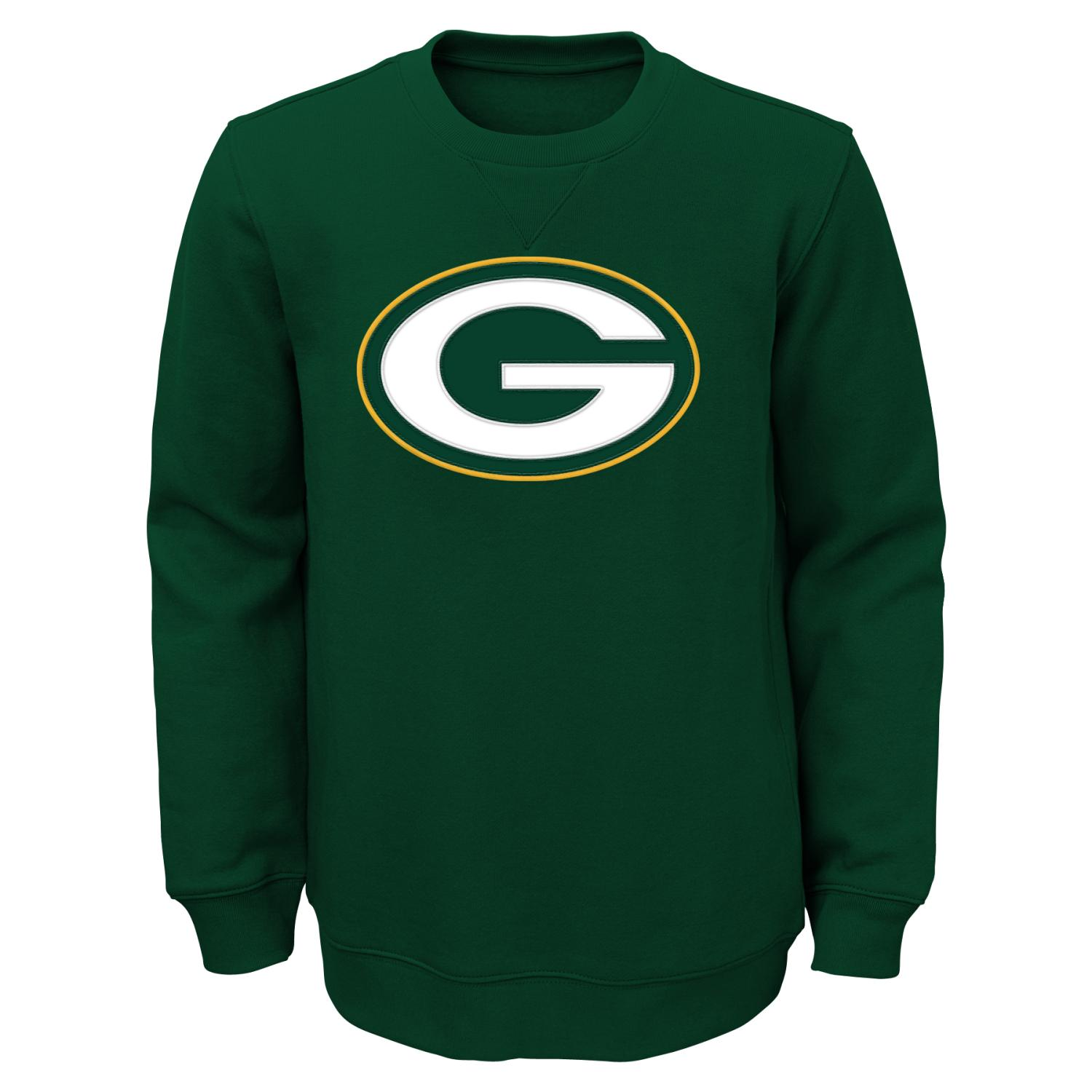 "Green Bay Packers Youth NFL ""Prime"" Pullover Crew Sweatshirt"