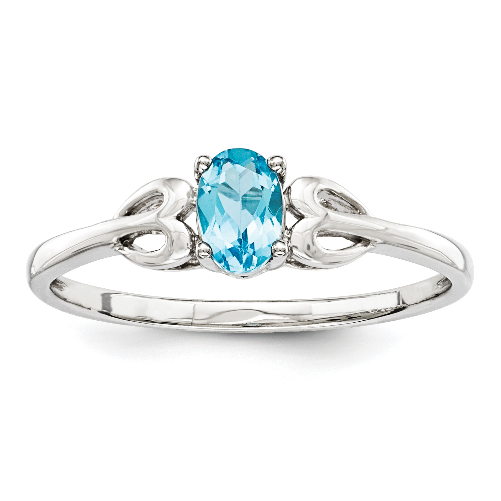 Roy Rose Jewelry Sterling Silver Light Swiss Blue Topaz Ring ~ Size 6