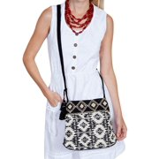 Handbag Womens Braided Shoulder Strap One Size Black White C33