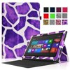 Fintie Folio Leather Case Cover for Microsoft Surface RT / Surface 2 10.6 inch Tablet, Giraffe Purple
