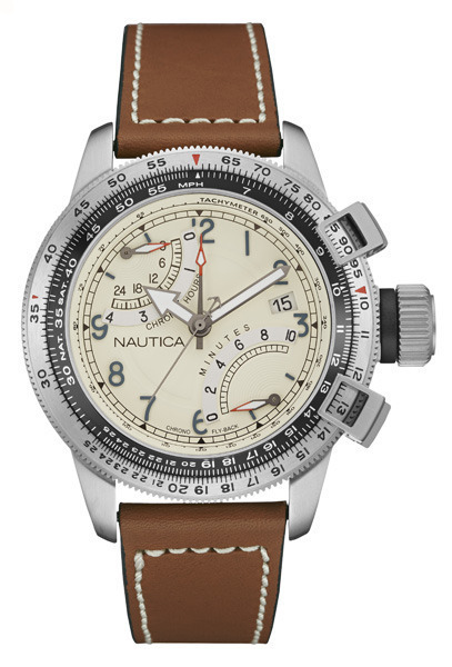 NAUTICA MEN'S WATCH BFC FLYBACK CHRONO 46MM by Nautica