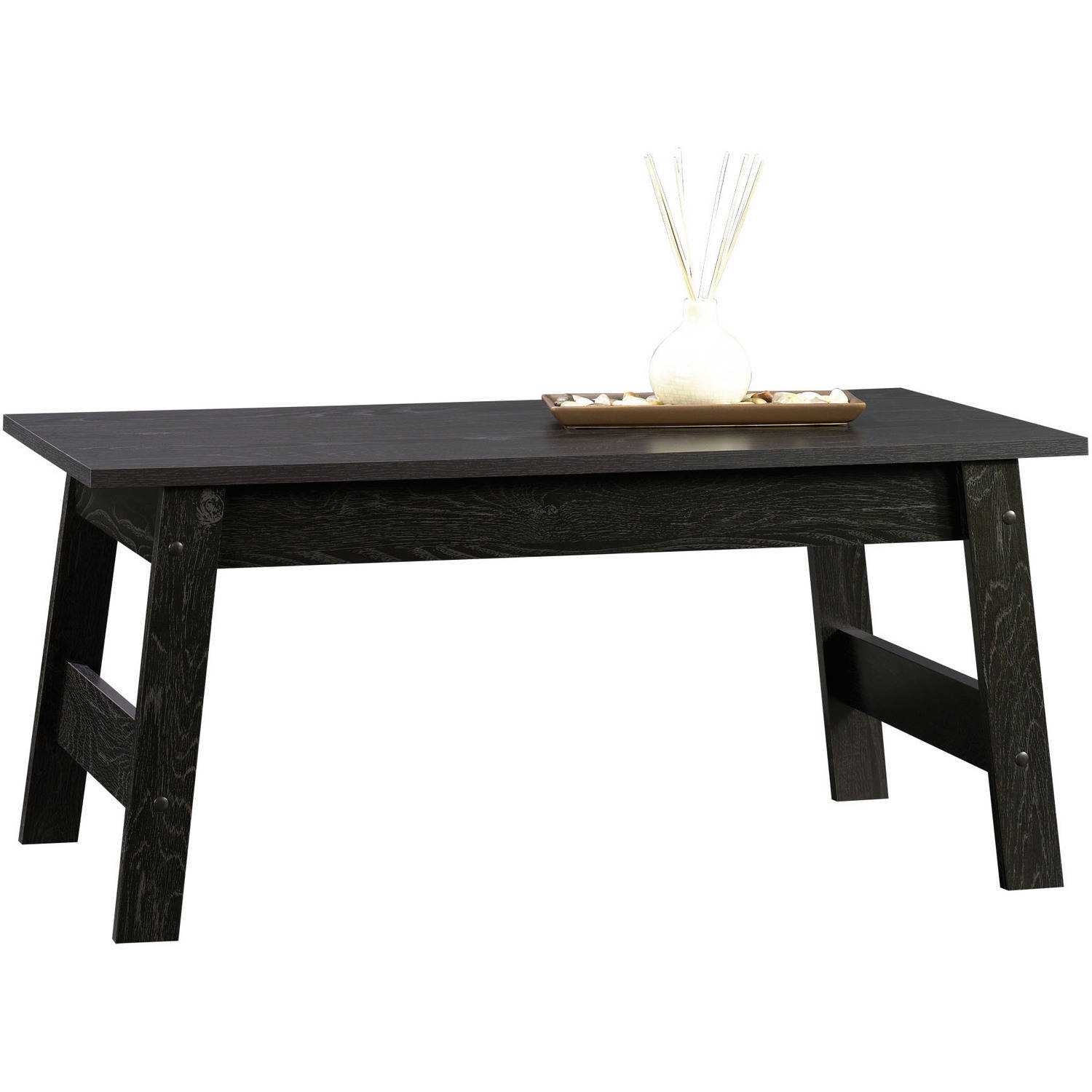 Black and wood coffee table - Black And Wood Coffee Table 12