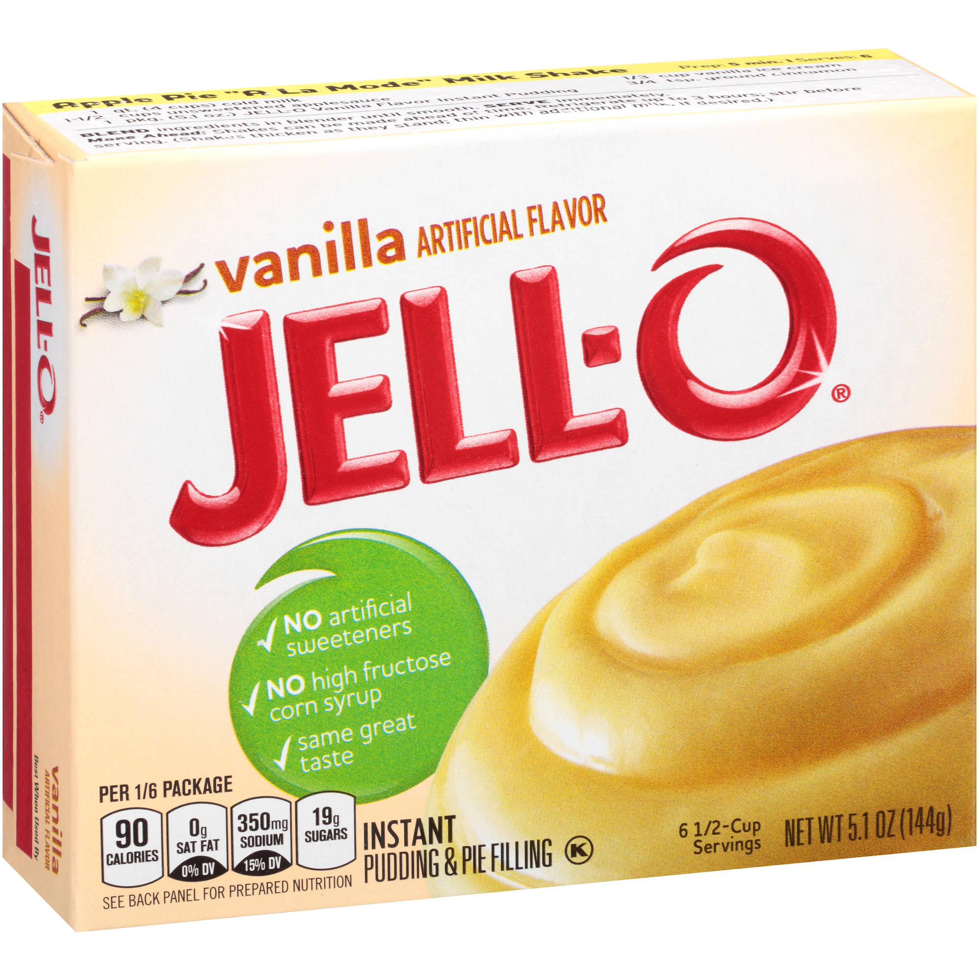 Jell-O Vanilla Instant Pudding & Pie Filling, 5.1 oz